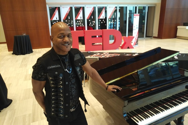 Joseph Wooten at the Tedx Memphis event